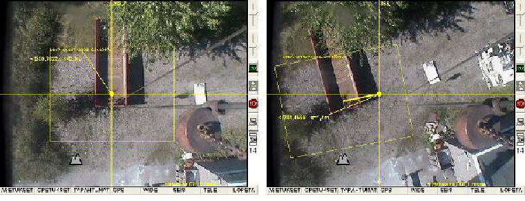 Re-positioning using camera view and a pin needle marker